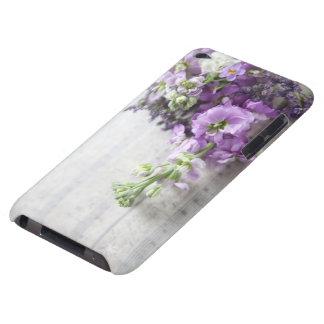flores lavanda-coloridas na música velha capas iPod touch Case-Mate