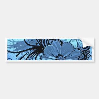 Flores mais azuis adesivo para carro