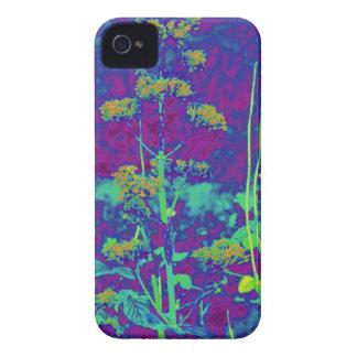 Flores no azul capa de iPhone 4 Case-Mate