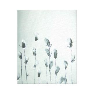 Flores preto e branco - canvas!!! impressão em tela