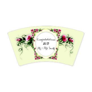 FLORES que WEDDING 2 copos de papel, 9 onças