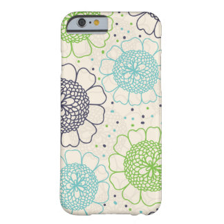 Flores retros capa barely there para iPhone 6