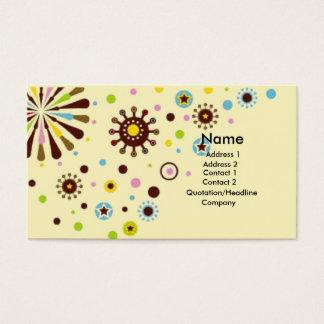 Flores retros cartão de visitas