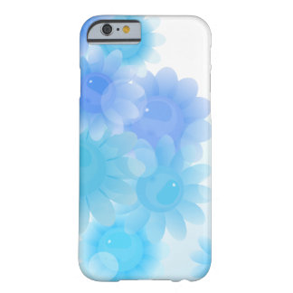 Flores românticas azuis do vintage capa barely there para iPhone 6