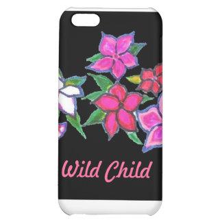 Flores selvagens da criança na capa de ipad capas para iphone5C