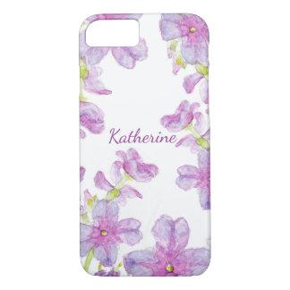 Flores selvagens dos Wildflowers roxos florais da Capa iPhone 7