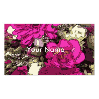 Flores vibrantes violetas da magnólia cartão de visita