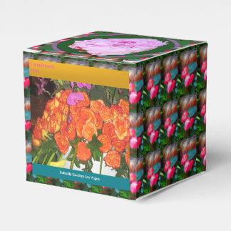 Floresça a caixa editável do favor do jardim DIY