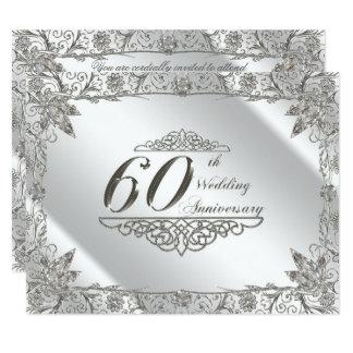 Floresça o 60th aniversário de casamento do convite 10.79 x 13.97cm