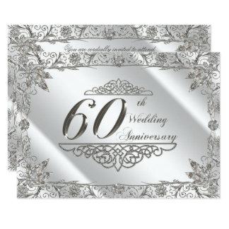 Floresça o 60th aniversário de casamento do convite 11.30 x 15.87cm