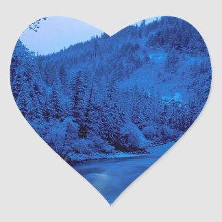 Floresta clara de Scott Klamath da lua do rio Adesivos De Corações
