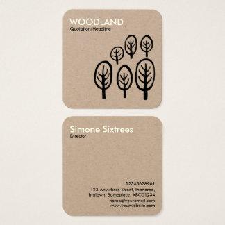 Floresta - creme + Preto no cartão de Kraft