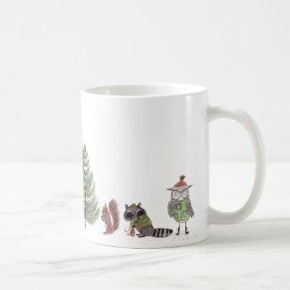 Floresta do inverno caneca de café