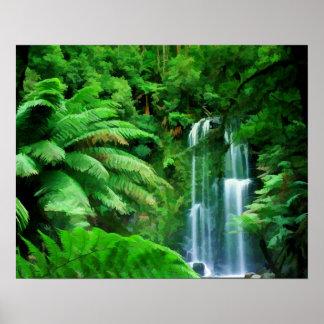 Floresta húmida & cachoeiras poster