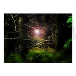 Floresta Mystical Cartão