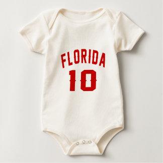 Florida 10 designs do aniversário macacãozinho para bebê