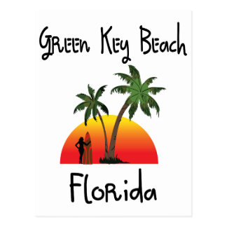 Florida chave verde cartão postal