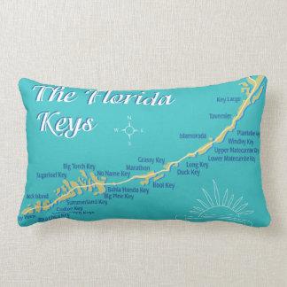 Florida fecha a ilustração do mapa travesseiros de decoração