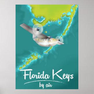 Florida fecha o poster das viagens vintage