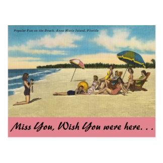 Florida, ilha de Anna Maria, divertimento na praia Cartão Postal