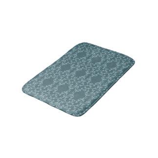 Florish azul tapete de banheiro