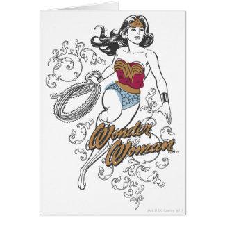 Flourish da mulher maravilha cartão comemorativo