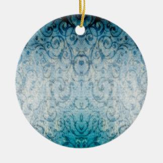 Flourish elegante desvanecido ornamento de cerâmica redondo