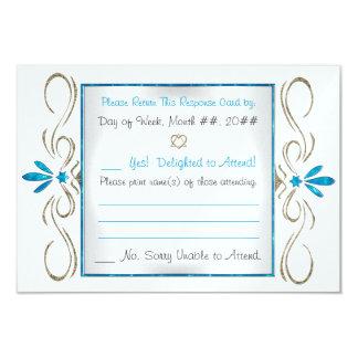 Flourishes do judaísmo (cartão da resposta) convite 8.89 x 12.7cm