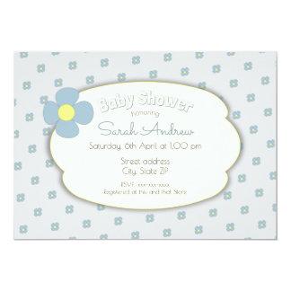 Flower baby shower invitation convite 12.7 x 17.78cm