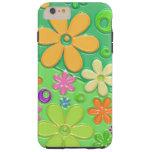 Flower power no verde capa tough para iPhone 6 plus