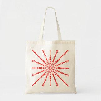 Flower power vermelho bolsa tote