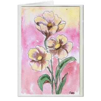 flowers cartão comemorativo