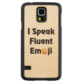 Fluente em Emoji Case Slim De Bordo Para Galaxy S5