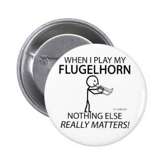 Flugelhorn nada matérias outras boton
