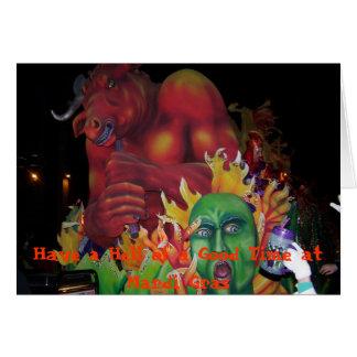 Flutuador colorido do diabo cartão comemorativo