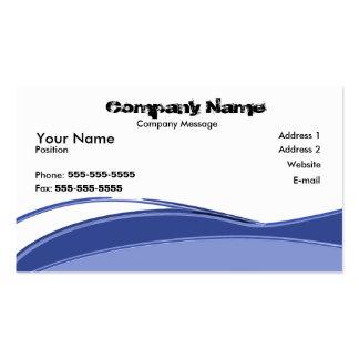 Fluxo azul cartão de visita