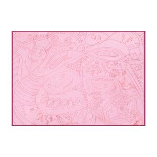 Fluxo de Eco dos peixes da lua - desenho - quadro Impressão Em Canvas