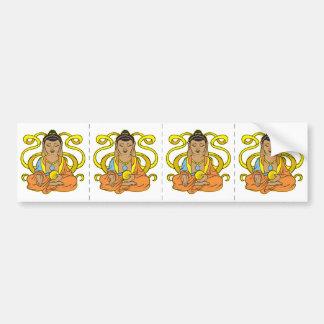 Fluxo de energia de Buddha Adesivo Para Carro