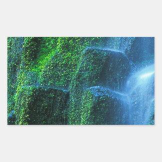 Fluxo de Willamette do proxy da cachoeira Adesivo Em Formato Retângular