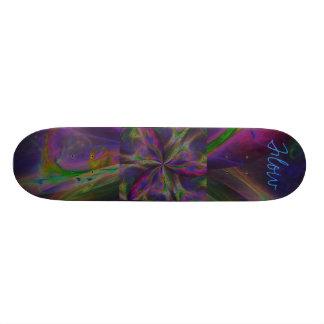 Fluxo do arco-íris da trindade skate