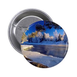 Fluxo do gelo do rio da natureza boton