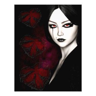 Flyer Asiático gótico