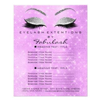 Flyer Brilho Lavanda6 da prata do salão de beleza do