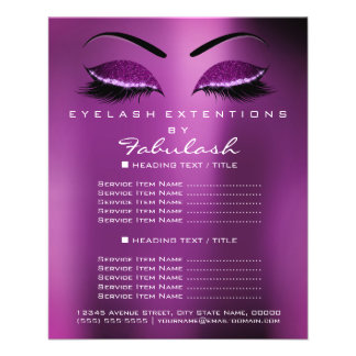 Flyer Brilho Purple1 da prata do salão de beleza do