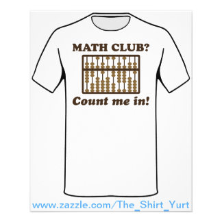 Flyer Conte-me no clube da matemática