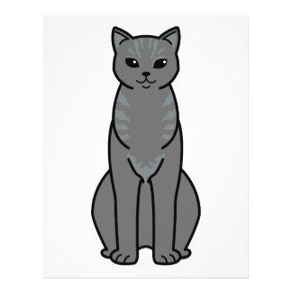 Flyer Desenhos animados asiáticos do gato do fumo