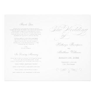 Flyer Design de prata da caligrafia dos programas | do