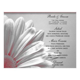 Flyer Destaques florais vermelhos e cinzentos que