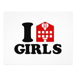 Flyer Eu amo meninas do hotel