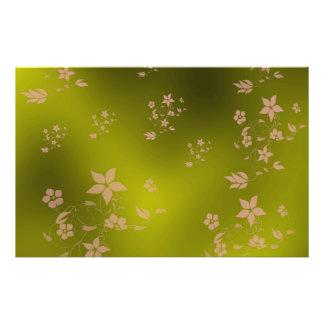 Flyer flores asiáticas delicadas pequenas em um metal